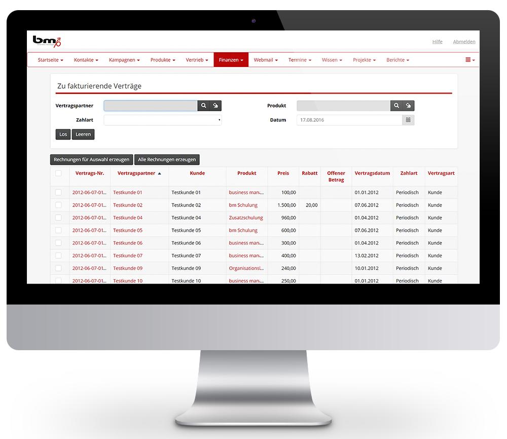 business manager CRM Lösung: Steuerung und Überwachung Ihrer Finanzen.
