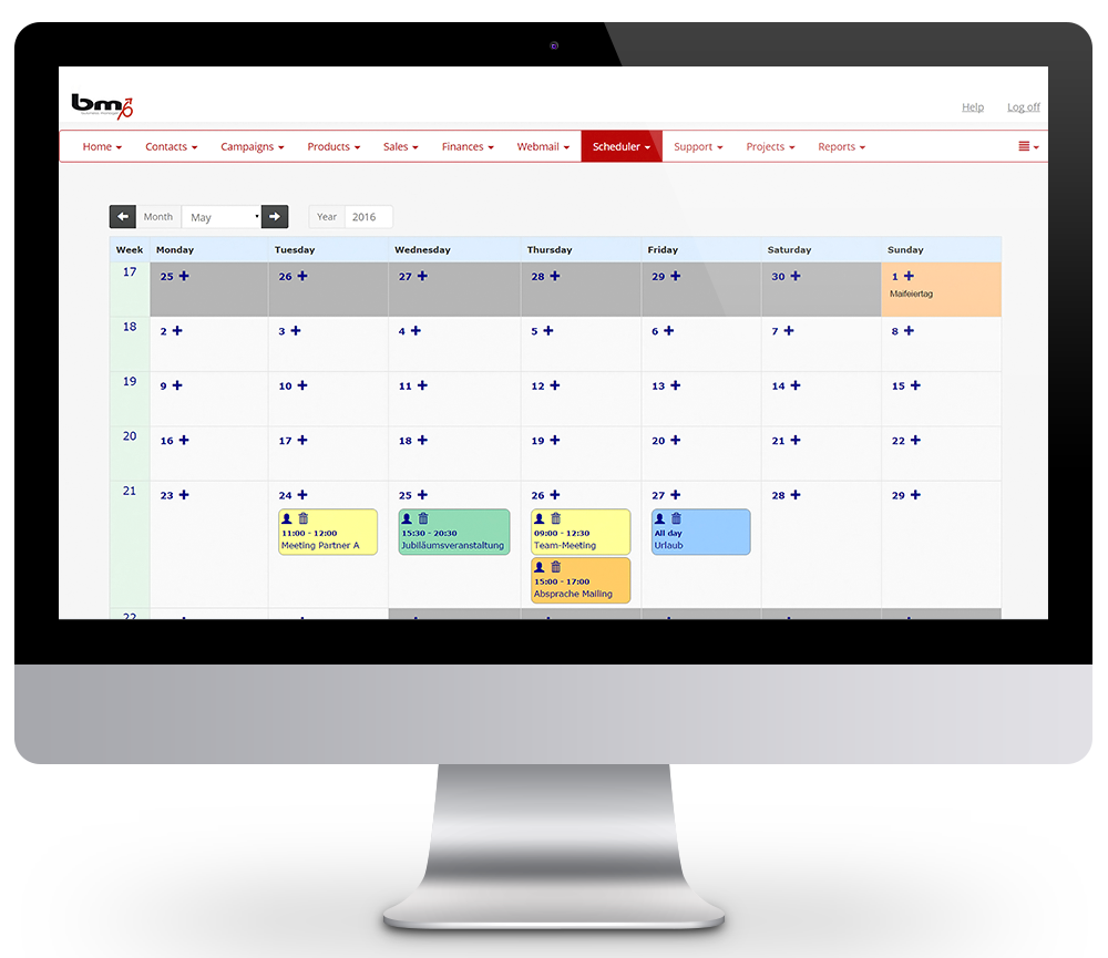 Appointment management CRM appointment planner