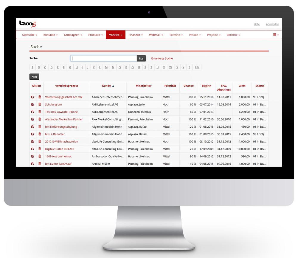 CRM Plattform für den Vertrieb